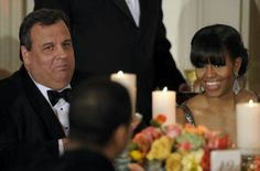 1st Lady Michelle Obama With Governor Chris Christie...