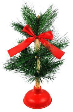 O'Shitmass Tree Redneck Novelty Gag Gift Tree Plunger Holiday Christmas Xmass