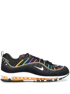 Shop online black Nike Air Max 98 sneakers as well as new season, new arrivals daily. Discount Shoes Online, Nike Air Max, Nike Shoes, Sportswear, Women Wear, Black Leather, Lace Up, Sneakers, Nike Tennis