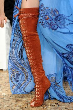 Pucci lace up thigh high boots