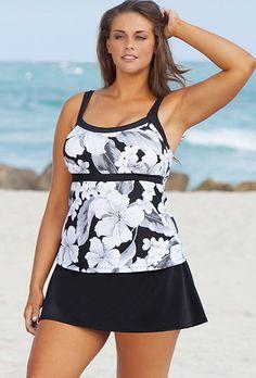 43955de5093 Beach Belle Casablanca Plus Size Empire Skirtini Bridal Swimwear