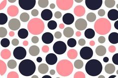 Bubble Dot Cuddle Coral/Navy