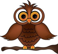 Owl clipart image wise old owl cartoon owl on a tree branch