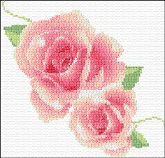 Free Cross Stitch Pattern Flower | 322 mm stitch style cross stitch using 2 strands