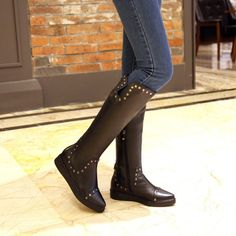 Cheap boots plus, Buy Quality boots knit directly from China boots female Suppliers: Tube high:TallThickness:Ordinary thickThe way they dress:Side zipperPattern:PureFor the Season:Fall, WinterColor:B