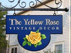 The Yellow Rose Retail Sign | Danthonia Designs