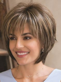 Layered Mixed Color Straight Synthetic Hair With Bangs Capless Cap Women Wigs – Trending Hairstyles Bob Hairstyles For Fine Hair, Layered Bob Hairstyles, Short Hairstyles For Women, Wig Hairstyles, Trending Hairstyles, 1930s Hairstyles, Pixie Haircuts, Medium Shag Hairstyles, Stacked Haircuts