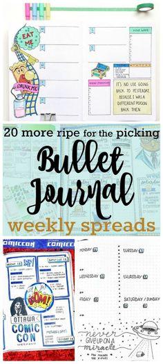 Bullet Journal Weekly Spread | Zen of Planning
