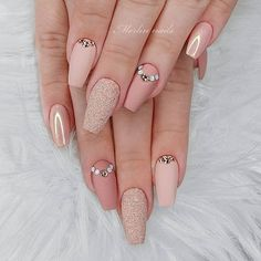 Thinking about having your nails done but can't find the perfect nail design?have a look at our 25 acrylic nails ideas for your favorite nail design and provide it a go. Acrylic Nail Designs, Nail Art Designs, Acrylic Nails, Cool Designs, Blush Nails, Pink Nails, Glitter Nails, Nude Nails, Crome Nails