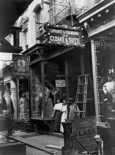 Vintage shop front, Garment District, ca. 1905-1910