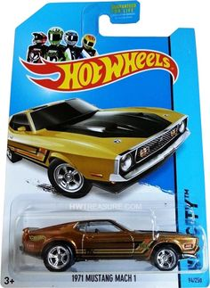 1971 Mustang Mach 1 Hot Wheels 2014 Super Treasure Hunt - HWtreasure.com