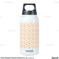 Cute Summer Daisies Pattern Insulated Water Bottle