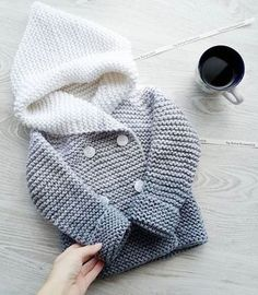 """детский кардиган спицами """"Cotton or wool howdy for babies, gradient grey and white"""", """"Knitted coat for kids"""", """"This post was discovered by Fat"""""""