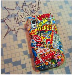 How To: Comic Book Phone Cover   •  Free tutorial with pictures on how to make a phone case in under 60 minutes
