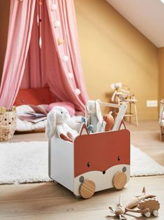 Woodland Decor, Toy Boxes, White Light, Cool Toys, Decoration, Kids Room, Toddler Bed, Storage, Children