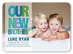 Love this adorable announcement for a new sibling!