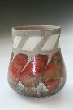 Raku Fired Tape Resist Jar $38.00 available for purchase on my Etsy page CeramicsGallery www.etsy.com/shop/CeramicsGallary?ref=shop_sugg