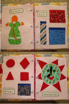 Personalized Children's Activity Book (Quiet Book, Fun Book, Buckle Book)