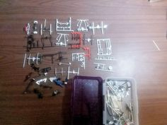 Large lot of scale model rear ends suspension parts junkyard MPC AMT Revell