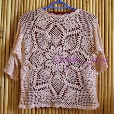 Crochet Shirt Crochet blouse — Crochet by Yana Crochet Bodycon Dresses, Black Crochet Dress, Crochet Halter Tops, Crochet Blouse, Irish Crochet, Crochet Lace, Crochet Designs, Crochet Patterns, Pineapple Crochet