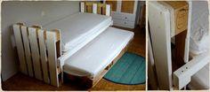 Ausziehbares Bett mit Paletten 1