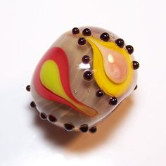 handmade lampwork glass bead color drops by cara by 500