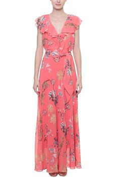 Vestido Crepe Botânico Hawaiian Party Outfit, Day Dresses, Summer Dresses, 40 And Fabulous, Chiffon Gown, Baguette, Wrap Dress, Fashion Dresses, Plus Size