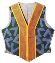 Umbero Notari's vest, 1924, 58 by 50 cm, Turin, private collection