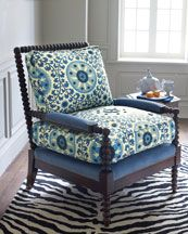old hickory tannery suzani spindle chair