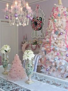 Christmas Chandelier Decorating Idea