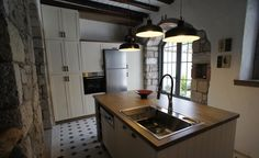 Kitchen Island, Kitchen, Cuboards, Old Stone Houses, Island Kitchen, Bathroom, Furniture, Design, Garden, Home Decor, Kitchen Island, Homemade Home Decor