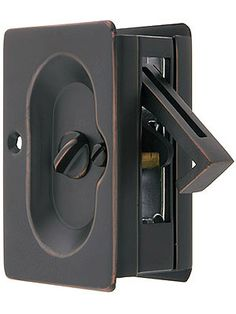 Pocket Door Locks. Premium Quality Mid-Century Pocket Door Privacy Lock Set