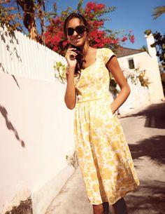 Lovely Linen Dress--Boden WH661 $128 linen with side zipper