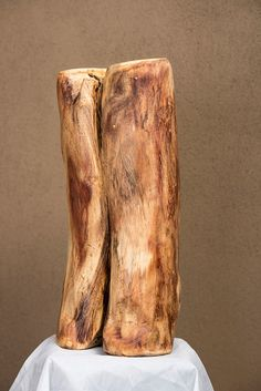 Imperfection (A.K.A Work in progress, a self portrait) - Sculpture from the wood of an African tree.