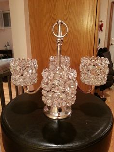 Item #1 - Crystal Candle Holder for Bride and Groom Table Centerpiece from Home Goods