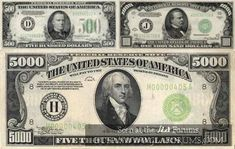 5000 Dollar Bill, Thousand Dollar Bill, Dollar Money, Dollar Bills, Anthony Howe, Money Template, Passport Card, Money Notes, Euro Coins