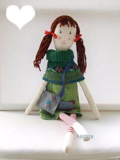Items similar to Rag doll- Clara- Aquarius girl on Etsy Aquarius, Dolls, Christmas Ornaments, Holiday Decor, Etsy, Home Decor, Goldfish Bowl, Baby Dolls, Aquarium