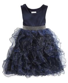 Bonnie Jean Girls Dress, Girls Organza Ruffle Dress - Kids Girls Dresses - Macy's
