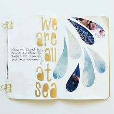 refugees. get messy season of words by mama finch #art #journal #lettering