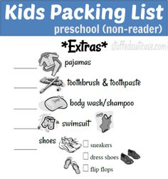 Kids Packing List StuffedSuitcase.com Teach Your Kids How to Pack a Suitcase #family #travel