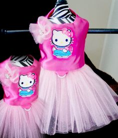 Hello+Kitty+Glitter+Tulle+Dog+Dress+by+DivaDogBowtique+on+Etsy,+$25.00