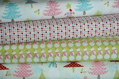 """Christmas Basics Green"" - Christmas Fabric Bundle by Riley Blake £13.00 @ www.elephantinmyhandbag.com - Fabric, Ribbon & other Scrummy Whatnots x"