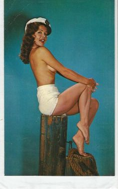 1960s PERT AND PRETTY // PIN-UP POSTCARD P66128 PLASTICHROME BY COLOURPICTURE