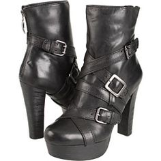 this Streetwise and oh so sassy, Latrice by Guess is the perfect companion for late lunches and leisurely shopping excursions. Bands and buckles around the leather upper lend plenty of attitude, while the 1.25-inch platform and the 4.5-inch heel (both in right-now wood) offer attention-getting lines that go with anything. A back zipper makes for easy on and off so you're ready for an afternoon adventure in no time.  Look what I found on @eBay! http://r.ebay.com/ufj0Yz