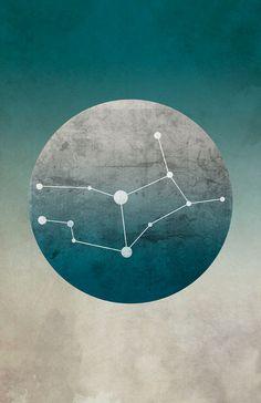 Zodiac Art Print Constellation Virgo