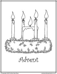 Advent Wreath Printable Coloring Pages Sketch Page