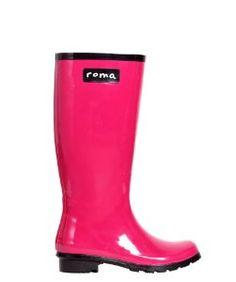 Roma BootsRoma Boots Glossy Magenta Rain Boots