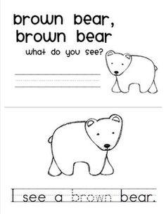 Mrs. Ricca's Kindergarten: Back to School & Brown Bear Freebie!