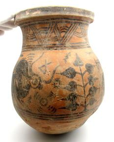 Large Indus Valley Painted and Terracotta Jar depicting Bull & Deer - Bronze Age Civilization, Indus Valley Civilization, Harappan, Mohenjo Daro, Art Antique, History Of India, History Timeline, Historical Monuments, Chinese Painting