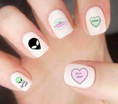 Want some ideas for wedding nail polish designs? This article is a collection of our favorite nail polish designs for your special day. Cute Nail Art, Cute Nails, My Nails, Wedding Nail Polish, Wedding Nails, Nail Polish Designs, Nail Art Designs, Nails Design, Alien Nails